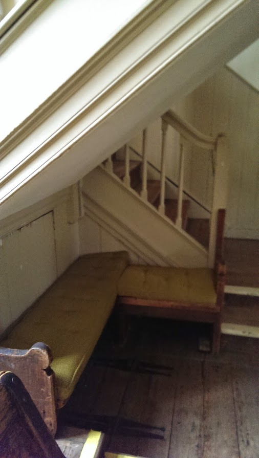 ... Quaker Meeting House: Bench Under Stairs