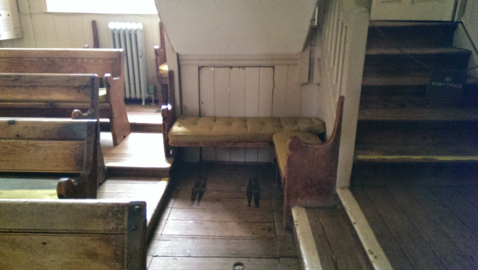 Quaker Meeting House: Bench Under Stairs ...